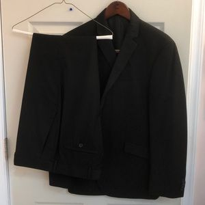 Kenneth Cole Reaction Black pin stripe Suit.